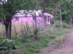 Pink house on the way to Meillac, Haiti