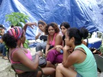 FuntoSalud/Casa Atabex Delegation camping out at Franklin's house in Taba, Port-Au-Prince, Haiti
