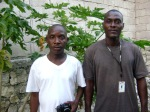 Camp Committee VP Talabert Frenel and Pres. Claude Willner, Taba, Port-Au-Prince, Haiti