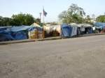 yet another camp in Port-Au-Prince, across the street from the wrecked presidential palace