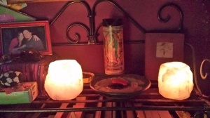 Himilayan Salt Lamps Altar